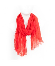 Tom Tailor Red Cotton Women's Scarf 156 x 57 cm