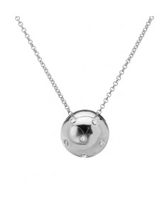 0.60 CTW Cubic Zirconia Sterling Silver Necklace