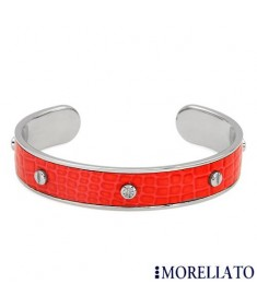 MORELLATO CROCO Collection Red Leather Bangle Bracelet