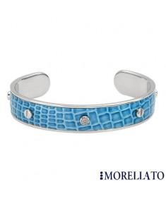 MORELLATO CROCO Collection Blue Leather Bangle Bracelet