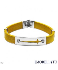 MORELLATO Bracelet With Diamonds in Silver Base metal and Yellow Leather