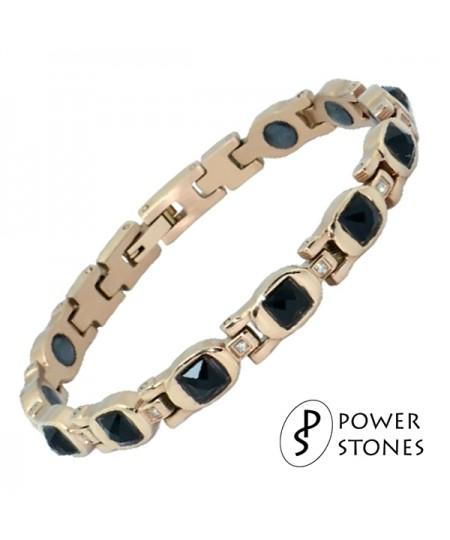 Rose Gold Plated Germanium Hematite Bracelet by Power Stones