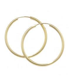 9CT Gold 25 mm Hoop Earrings