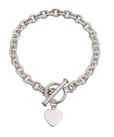 Heart Tag T-Bar 20Cm Bracelet