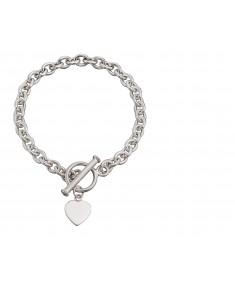 Heart Charm Toggle Bracelet