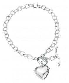 Puffed Heart Charm 18.5Cm Bracelet