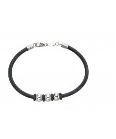 Steel Ball Rubber Bracelet