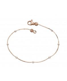 Rose Gold Plated Snake Chain Bead Bracelet