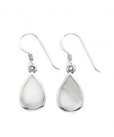 White Mop Teardrop Earrings