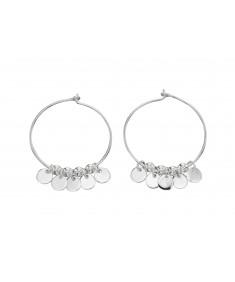 5Mm Round Disc Hoop Earrings