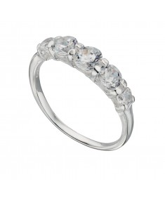 Clear Cz Graduated Ring