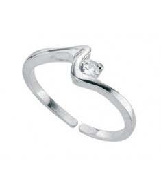 Clear Cz Squiggle Toe Ring