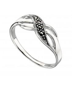 Marcasite Twist Ring
