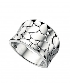Wide Textured Ring