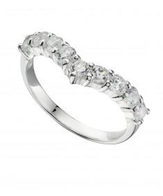 Cz Wishbone Ring