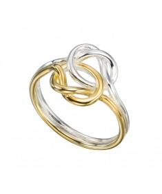 Double Knot Ring With Gold Plating