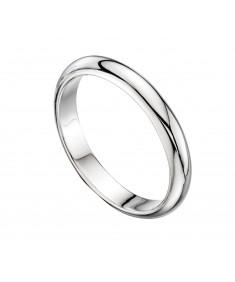 D Shaped Mens Band Ring