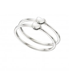 Double Heart Stacking Ring