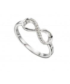 Cz Infinity Loop Ring