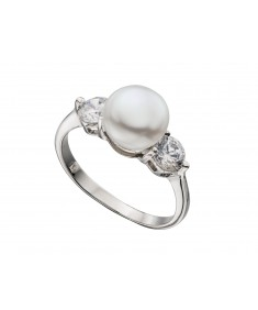FreshWater Pearl And Cz Ring