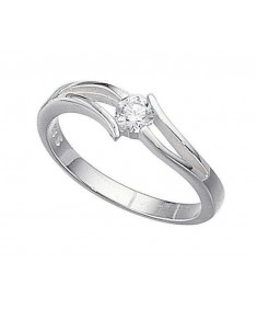 Clear Cz Open Setting Ring