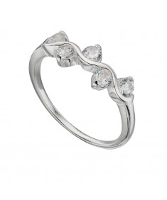Clear Cz Wiggle Ring
