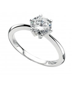 Clear Cz Round Ring