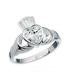 Clear Cz Claddah Ring