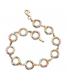 Triple Gold Russian Ring Style Bracelet
