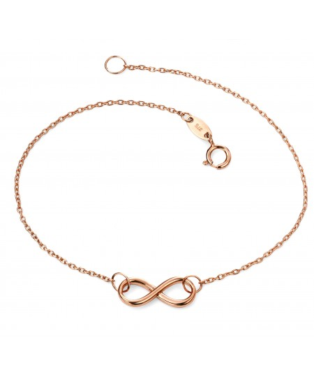 9ct Rose Gold infinity bracelet