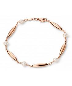 9ct Rose Gold Pearl Bracelet