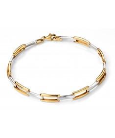 9ct Yellow Open Rectangle Link Bracelet