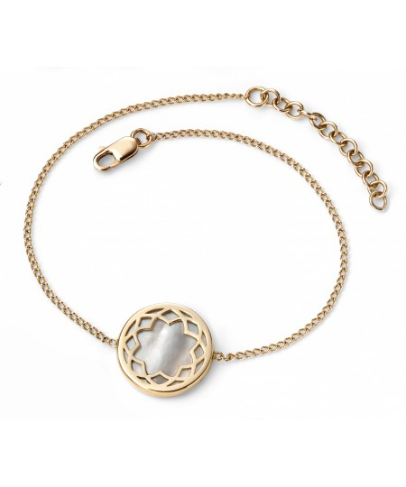 9ct Yellow Gold Bracelet with Mother of Pearl Inlay