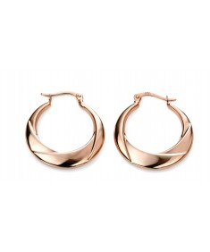 9ct Rose Gold chunky hoop earrings