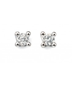 9ct white gold Solitaire diamond earrings