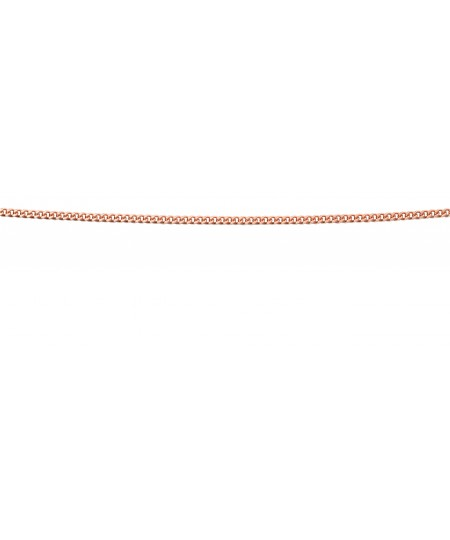 9ct rose gold curb chain with extender