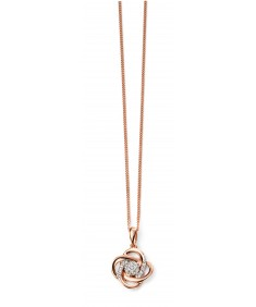 9ct Rose Gold Diamond Swirl Pendant