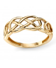 9ct Yellow Gold Plain Celtic Pattern Ring