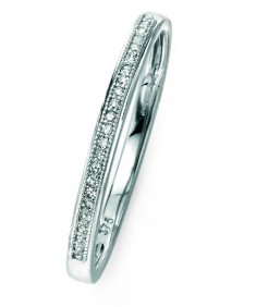 9ct white gold pave set diamond ring