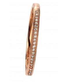 9ct rose gold pave set diamond ring
