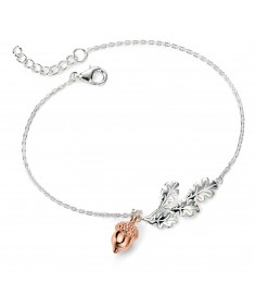 Acorn Bracelet with Rose Gold 18+2cm