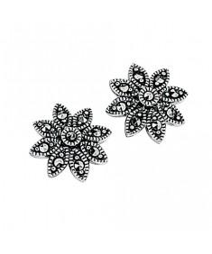 Marcasite Daisy Stud Earring