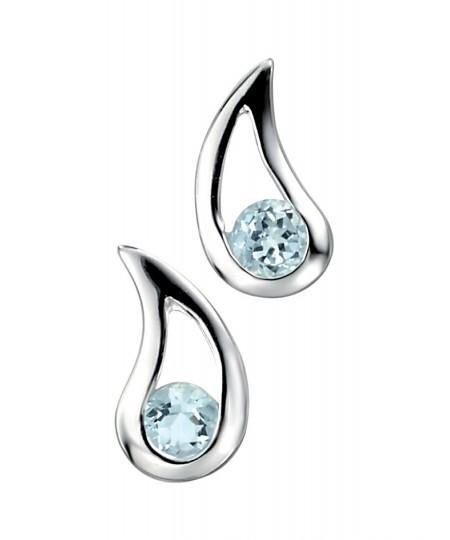 Blue Topaz Teardrop Earring