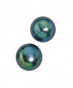 Black Freshwater Pearl 8mm Stud Earring