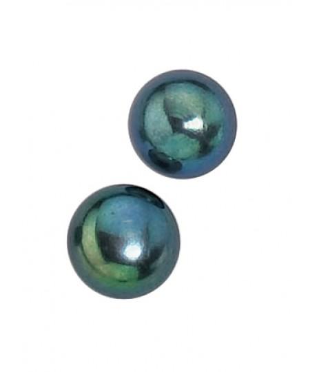 Black Freshwater Pearl 8mm Stud Earring