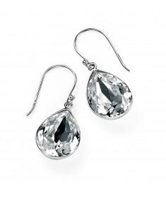 Clear Swarovski Crystal Teardrop Earring