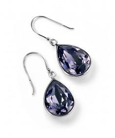 Tanzanite Swarovski Crystal Teardrop Earring