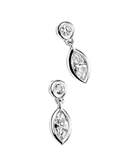 Clear CZ Round & Marquise Earring