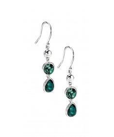 Erinite/Emerald Swarovski Crystal Drop Earring