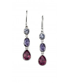 Amethyst/Sapphire/Tanzanite Swarovski Crystal Drop Earring
